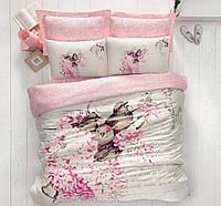 Постельное белье сатин  Cotton Box 200х220 SEVDA PEMBE