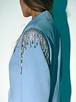 Эффектное пиджак- платье, Цвет Голубой