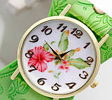 Наручные часы женские с салатовым ремешком код 243, фото 2