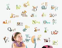 Декоративная интерьерная виниловая наклейка в детскую Английский Алфавит AY877