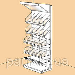 Стеллаж кондитерский 2350*950 мм ТИП 1 приставной стеллаж торговый Ристел
