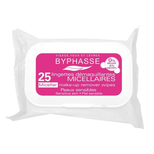Byphasse Make-up Remover Wipes Micellar Solution Sensitive Skin Салфетки очищающие салфетки 25 шт.