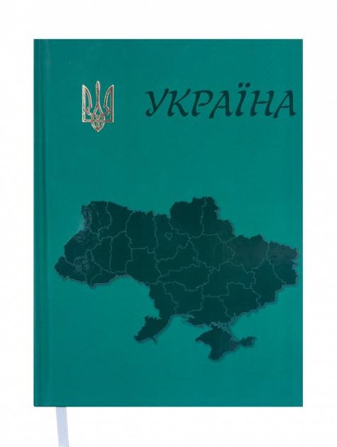 Ежедневник недатированный Buromax Ukraine A5 на 288 страниц Зеленый