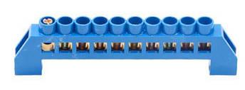 Шина нулевая в изоляторе синяя HC 6 * 9/10, фото 2