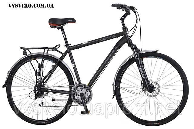 Велосипед 700 Spelli Galaxy Disk Зеленый черный  2013