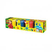 Пальчикові фарби - МОЇ ПЕРШІ МАЛЮНКИ (4 кольори, у пластикових баночках) (0305S)