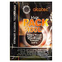 Сухие турбо дрожжи Alcotec Mega Pack 100L, 390 г