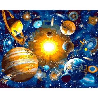 Картина по номерам Солнечная система, 40x50 см Mariposa