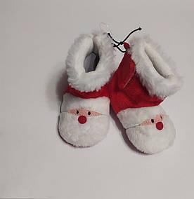 Пинетки-угги новогодние Дед Мороз (12см)