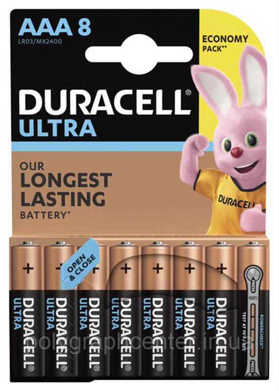 Батарейка Duracell Ultra Power AAA/LR03 BL 8шт