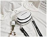 Маленькая белая вместительная сумка новая, фото 4