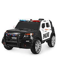 Детский электромобиль Машина Джип «Ford» Police M 3259EBLR-1-2 Черный с белым
