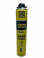 Профессиональная клей-пена BeLife A1 PRO Жидкий Цемент белая 850мл