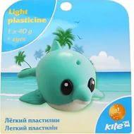 Легкий пластилин с глазками,1*40г,подвес дельфин