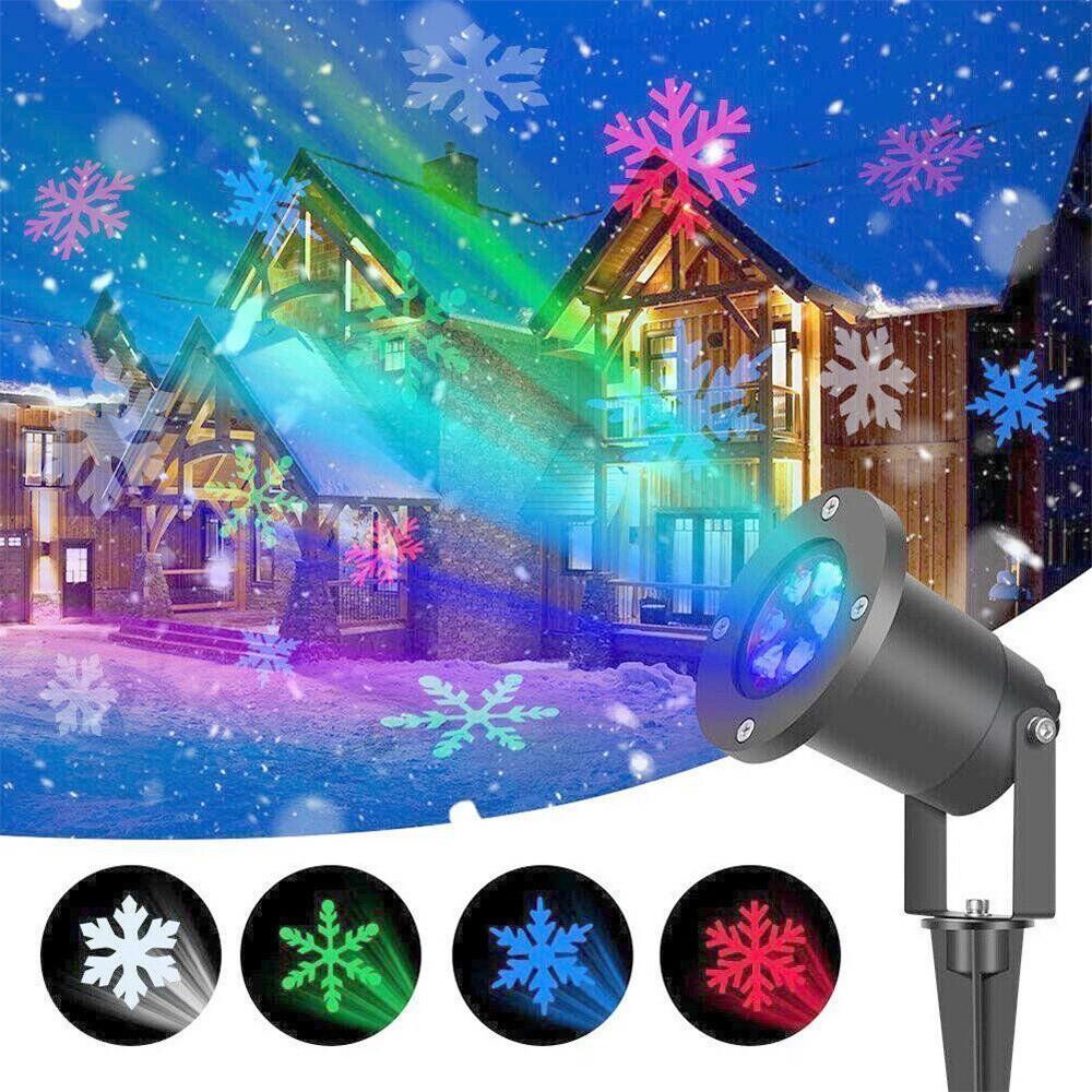 Лазерный проектор цветные снежинки Star Shower COLOR Snowflake № WP2 + ПОДАРОК: Настенный Фонарик с