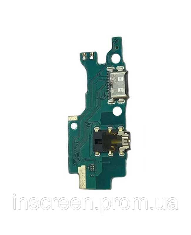 Нижня плата Samsung M307F Galaxy M30s з роз'ємом зарядки, роз'єм навушників, мікрофоном