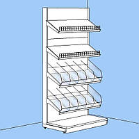Стеллаж для приправ и специй 1900*1200 мм ТИП 4 стеллаж Ристел приставной торговый