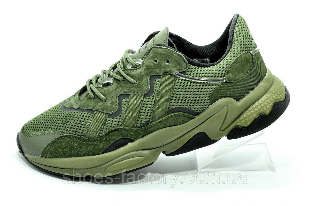 Кроссовки мужские Adidas Ozweego Green зеленые