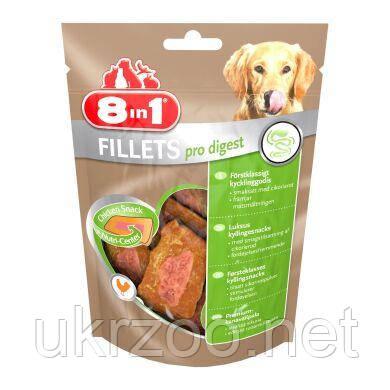 Лакомство для собак 8in1 Fillets Куриное филе 80 г (для чувствительного пищеварения)