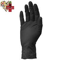 Чёрная нитриловая перчатка 1 шт.