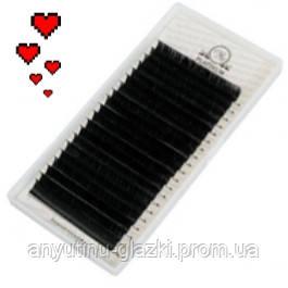 Ресницы для наращивания Platinum чёрные L 0.10 (7 мм)