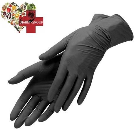Чёрные нитриловые перчатки Пара, фото 2