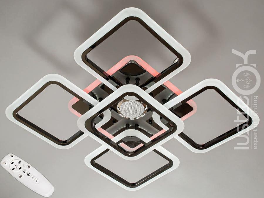 Люстра светодиодная потолочная А8060/4+1HR MP3 Люстра с пультом управления