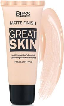 Матовый тональный крем Bless Beauty Great Skin № 1