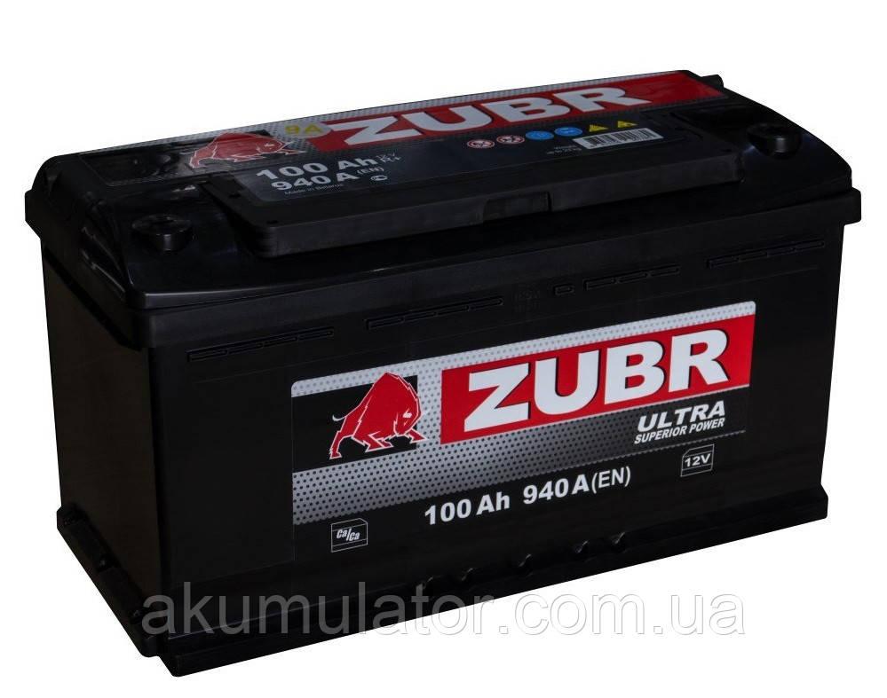 Акумулятор автомобільний ZUBR Ultra 100 (L+) 940А