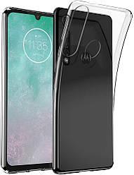 Прозрачный Чехол Motorola G8 Plus (ультратонкий силиконовый) (Моторола Ж8 Плюс)