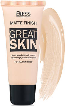 Матовый тональный крем Bless Beauty Great Skin № 4