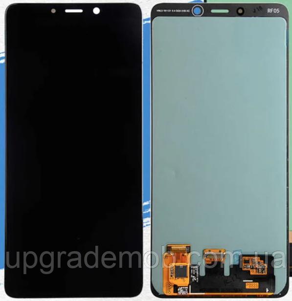 Дисплей Samsung A920F Galaxy A9 2018 с тачскрином модуль сенсор, черный, Amoled, оригинал , переклеено стекло