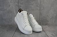 Женские кроссовки кожаные зимние белые Lions AM, фото 1