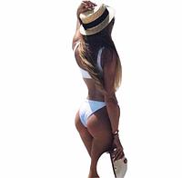 Белый купальник бикини на заклепках размер L