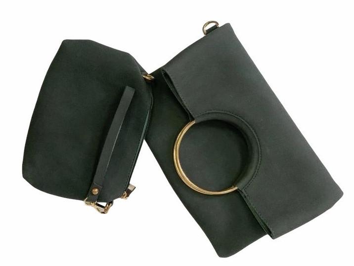 Зелена сумка через плече Answear