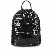 Женский городской рюкзак с пайетками 30*24*14 см, фото 1