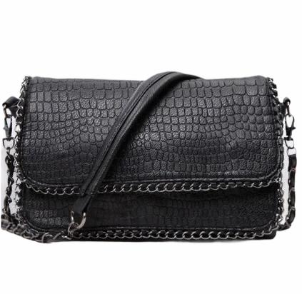 Сумка через плечо сумка планшет черная 26*19*5 см