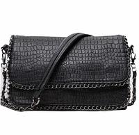 Сумка через плечо сумка планшет черная 26*19*5 см, фото 1