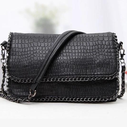 Сумка через плече сумка планшет чорна 26*19*5 см