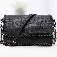 Сумка через плече сумка планшет чорна 26*19*5 см, фото 1