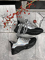 Женские кроссовки кожаные весна/осень черные-серые CrosSAV 415, фото 1