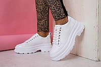 Женские кроссовки кожаные весна/осень белые Best Vak 49-06 Vogue, фото 1