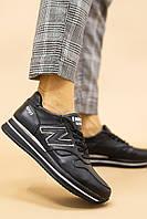 Женские кроссовки кожаные весна/осень черные Lions NB Emirro Black Edition, фото 1