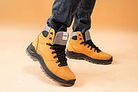 Мужские ботинки кожаные зимние желтый-нубук CrosSAV 328, фото 1