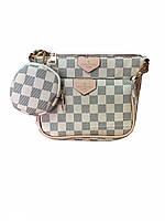 Сумка Луи Виттон белая шахматка в фирменном пакете, фото 1