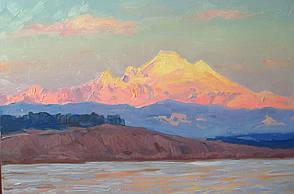 """Картина на холсте """"Гора Бейкер"""" масло"""