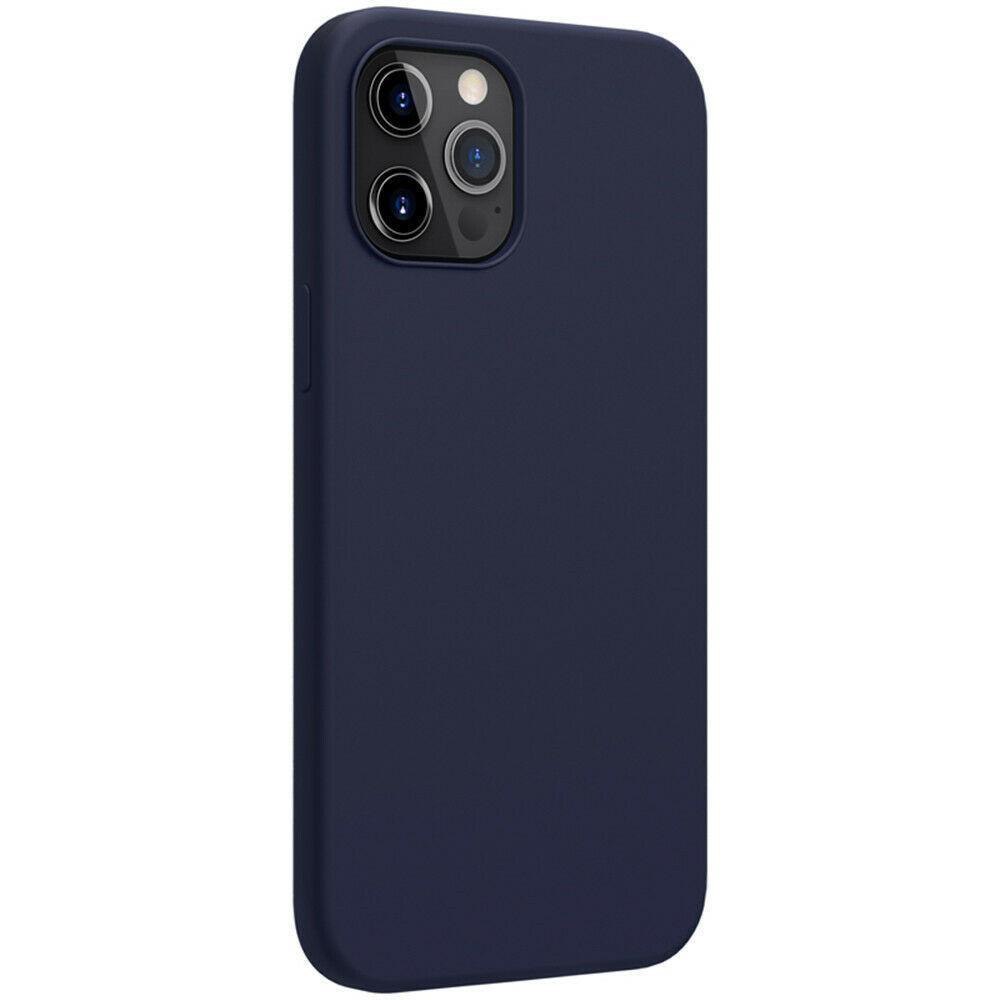 Магнитный силиконовый чехол Nillkin для iPhone 12 / 12 Pro (6.1″) Flex Pure Pro Magnetic Case Blue