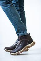 Мужские ботинки кожаные зимние коричневые Twics К2, фото 1