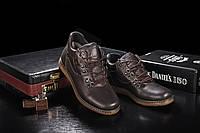 Мужские ботинки кожаные зимние коричневые Yuves 600, фото 1