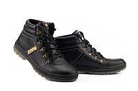 Мужские ботинки кожаные зимние черные Pav 3231, фото 1